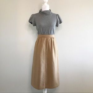 Vintage The Villagers Wool Midi Skirt